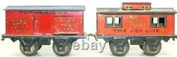 Vintage Super Rare Joy Line Tin Lithographed 0-gauge Freight Set