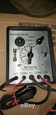 Vintage nos auto-test Engine tune-up tester meter auto service