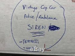 Vintage old 1970's Cop Car alarm Parade SIREN service auto gm street rat rod