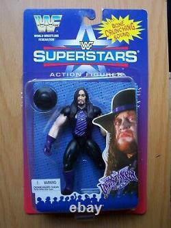 WWF SUPERSTARS Jakks 1st Series Full Set (6) MOC Case Fresh 1996 BCA SUPER RARE