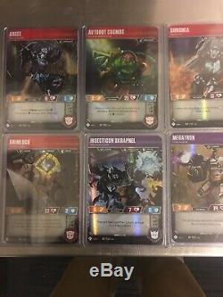 Wave 1 Transformers TCG Complete set. Super Rare, SDCC, Character, Battle Cards