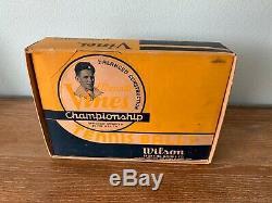 Wilson Ellsworth Vines Flat Lids Tennis Cans Box Set Super Rare Unopened