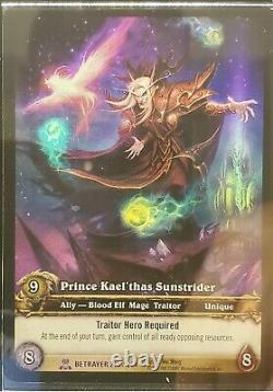 World of Warcraft TCG Prince Kael'thas Sunstrider UD Employee Set. Very Rare