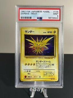 Zapdos Japanese Fossil Set PSA 9 MINT 1997 Pokemon