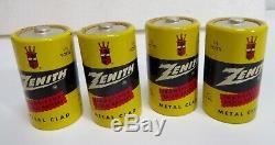 Zenith Battery Z-4nl 1.5 Volt Set Of 9 Super Rare Batteries Museum Quality